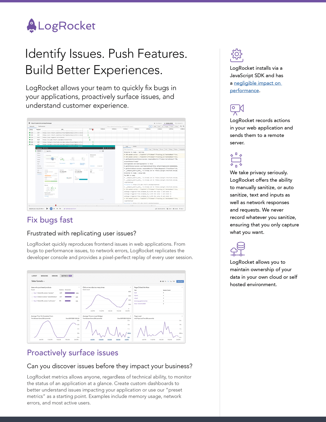 Example data sheet design frontend application monitoring